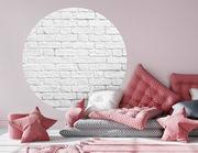 Wandtattoo Weiße Backsteinmauer