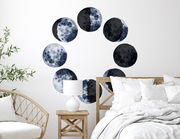 Wandtattoo Watercolor Moon Phases