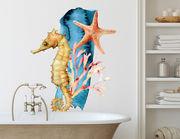Wandtattoo Seepferdchen Aquarell