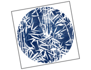 Lieferansicht Wandtattoo Blue Bamboo