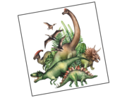Lieferansicht Wandtattoo Jurassic Dinosaurs