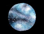Lieferansicht Wandtattoo Watercolor Galaxy