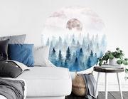Wandtattoo Wald im Nebel Aquarell