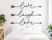 Wandtattoo Live Laugh Love Arrows
