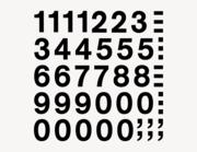 Zahlen-Aufkleber modern