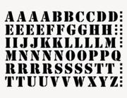 Buchstaben-Aufkleber Starling