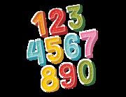 Lieferansicht Wandtattoo Zahlen-Aufkleber Doodle