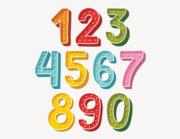 Wandtattoo Zahlen-Aufkleber Doodle
