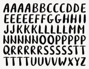 Buchstaben-Aufkleber Brush