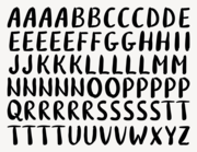 Wandtattoo Buchstaben-Aufkleber Brush