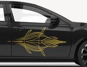 Autoaufkleber Pinstripe-Set Kontiki