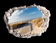 Lieferansicht 3D Wandtattoo Meeresdüne
