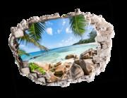 Lieferansicht 3D Wandtattoo Südsee
