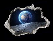 Lieferansicht 3D Wandtattoo Mondspaziergang