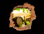 Lieferansicht 3D Wandtattoo Weinfass