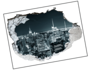 Lieferansicht 3D Wandtattoo New York Nights