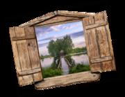 Lieferansicht 3D Wandtattoo Lakeside