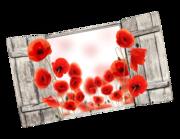 Lieferansicht 3D Wandtattoo Poppy Field