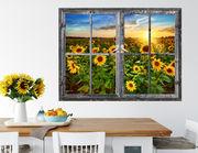 3D Wandtattoo Sunflower Field