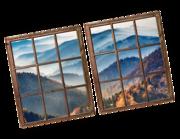Lieferansicht 3D Wandtattoo Berglandschaft