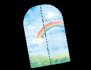 Lieferansicht Wandtattoo Regenbogenfenster