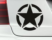 Autoaufkleber Army Star