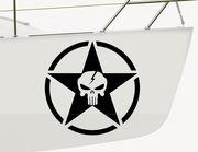 Bootsaufkleber Skull Star