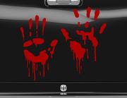 Autoaufkleber Bloody Hands