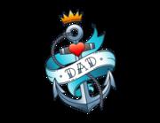 Lieferansicht Wandtattoo Dad Anchor