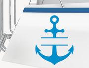 Bootsaufkleber Anker Split