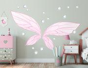 Wandtattoo Fairy Wings & Diamonds