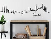 Wandtattoo Line-Art Skyline Istanbul