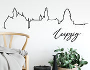 Wandtattoo Line-Art Skyline Leipzig