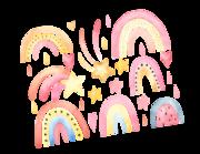 Lieferansicht Wandtattoo Colorful Rainbows