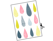 Lieferansicht Wandtattoo Colorful Raindrops