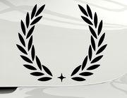 Autoaufkleber Lorbeerkranz mit Stern