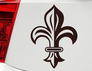 Autoaufkleber Heraldische Lilie