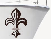Bootsaufkleber Heraldische Lilie
