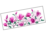 Lieferansicht Wandtattoo Pink Magnolia