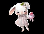 Lieferansicht Wandtattoo Bunny Girl Candy
