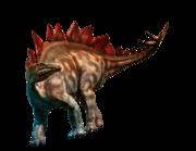 Lieferansicht Wandtattoo Stegosaurus