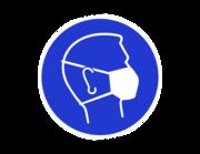 Lieferansicht Wandtattoo Mund-Nasen-Schutz