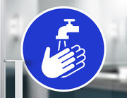 Wandtattoo Hände waschen