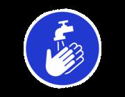 Lieferansicht Wandtattoo Hände waschen