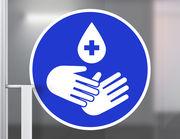 Wandtattoo Hände desinfizieren