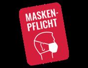 Lieferansicht Wandtattoo Maskenpflicht