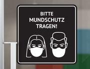 Wandtattoo Bitte Mundschutz tragen