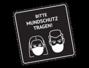 Lieferansicht Wandtattoo Bitte Mundschutz tragen