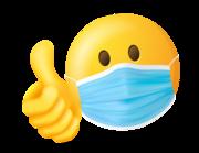 Lieferansicht Aufkleber Smiley mit Maske
