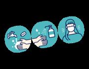 Lieferansicht Wandtattoo Hygiene Illustration
